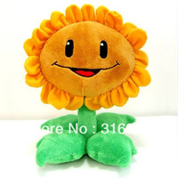 J1 New Arrival  Plants Vs Zombies Plush Sunflower toy 30cm free shipping