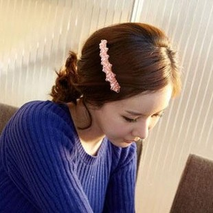 G220 hair accessory exquisite fashion trend of the crystal beads hairpin side-knotted clip(China (Mainland))