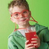 diy straw funny glasses straw  Cooking Tools