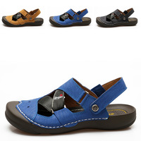 Summer fashion  high quality handmade genuine leather beach men's leather sandals 2013 new arrival Hot-selling free shipping