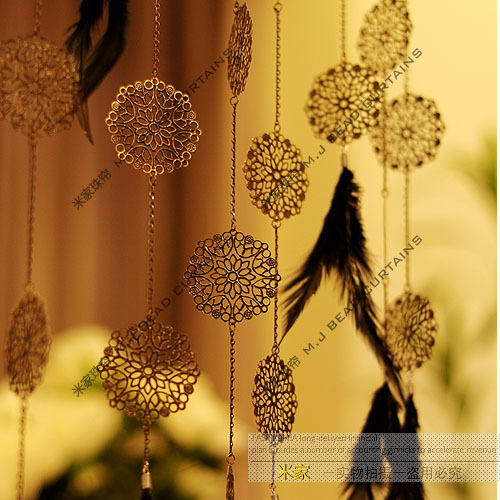 freeshipping Personalized metal motif bead curtain bead curtain entranceway bead curtain crystal finished product(China (Mainland))