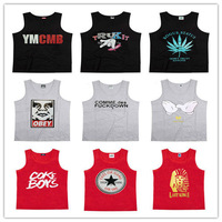 Fashion Contton Vest Hip Hop Tank Top Casual Summer Sportwear Singlet Men Upper Apparel Mix Order Wholesale