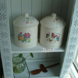free shipping Ceramic canister tea caddy candy jar(China (Mainland))