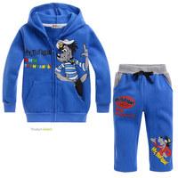 Free shipping!fashion chiidren suit cute cotton childrenlong sleeve clothing set wholesale 5pcs/lot