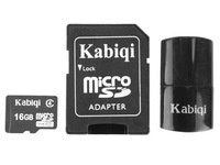 Free Shipping! Brand New Karsiqi 16G Class4 Micro SDHC (TF) memory card with SD Adapter and USB Card Reader
