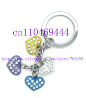 Wholesale New 12 PCS 3D Heart-shaped Key Ring Accessories Free Shipping Y-031