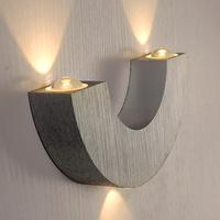 85-265V 3*1W LED wall lights Modern brief semicircle metal brushed aluminum wall lamp KTV Bar light Free Shipping