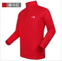 Men's outdoor collar long-sleeved t-shirt ,  perspiration drying T-shirt, prevent bask in clothes! 6 colors