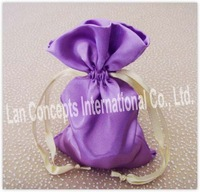 Free shipping Satin Drawstring Gift / Favors Pouch Jewelry Bag Candy Packing  -10 x 15cm 120pcs/lot  BN0123 purple