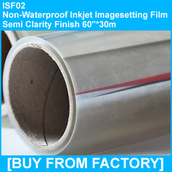 "Inkjet Imagesetting Film Semi-clarity  60""*30M"