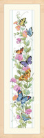 Free shipping Uncompleted Butterfly flowers Counted Cross Stitch kit with 14CT linen cloth 2 German needle & cotton thread