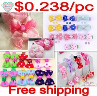 Free shipping!wholesale 105pcs/lot Dog pet hair bows dog hair accessory/accessories hot selling products 001~005