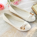 2013 spring bow rhinestone flat heel single shoes female shoes flat shoes casual shoes(China (Mainland))