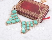 Free shipping hot sale Crystal Butterfly Rhinestone necklace vners Gifts For Women 6pcs/lot N54