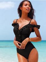 Summer Sexy One Piece Swimsuit, Monokini Beach Swimwear For Female, 2 Colors