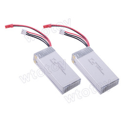 2 pcs/ lot 7.4V 1500mA Lipo Battery for 2.4G 4CH Single Blade RC Helicopter V913 20627(China (Mainland))