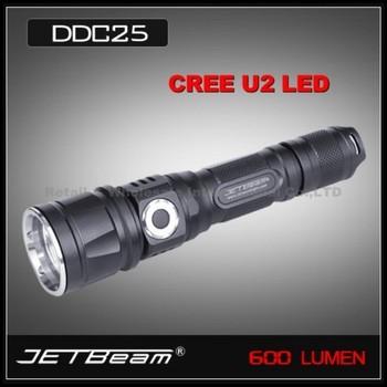 JETBeam DDC25 Digital Display 18650 Cree XML U2 LED waterproof IPX-8 Camping Hiking Professional Flashlight torch