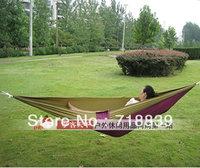 Freeshipping wild outdoor hammock stripe, is more solid than canvas hammock comfortable bearing 120 kilograms of 120 * 270 cm