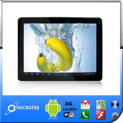 9.7inch tablet pc with gsm sim card slot 3g video phone calling, bluetooth, wifi, hdmi, cameras(China (Mainland))