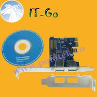 Free shipping 2 ports USB3.0 15 pin SATA power supply port PCIe Controller, PCI-e, PCI express card