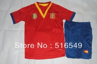 2013 spain home red thai quality soccer jersey , 2013-2014National Teams soccer shirts &short can customs names&numbers