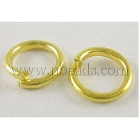 JumpRings,  Close but Unsoldered,  Brass,  Golden Color,  about 8mm in diameter,  1mm thick,  about 3600pcs/500g