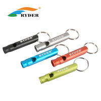 5pcs/lots Ryder ryder aluminum alloy matt whisted big rescue whistle whistle color card l4014  outdoor products