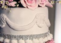 Freeshipping 2013 Colorful Hot Sales Craft Diamond Mesh Wrap For Wedding Cake Decorating
