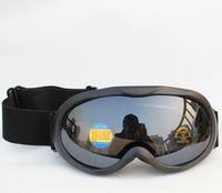 Free Shipping Double Lens Polarized Anti Fog Windproof Ski Goggles UV400 Protection Europe Snow Glasses Black Color Men Women