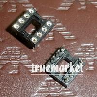 60 PCS DIP-8-Round IC SOCKET 8 PIN 8PIN 8P Round Hole DIP IC Sockets Adaptor Solder Type,Gold plated inner