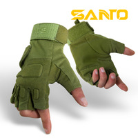 Free shipping outdoor semi-finger tactical gloves mountain bike ride short gloves