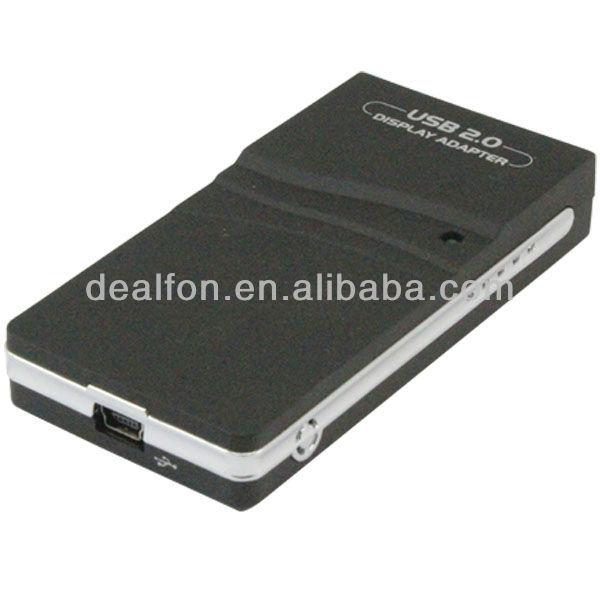 USB 2.0 UGA Multi Display External DVI Video Card with VGA HDMI Adapters(China (Mainland))