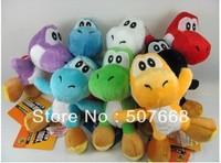 "10pcs Soft Plush Super Mario Bros Yoshi Plush Anime 4"" Keychain yoshi keychain phone chain plush"