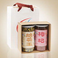 herbal tea chrysanthemum & wolfberry tea -2 cans herbal tea gift box 410g