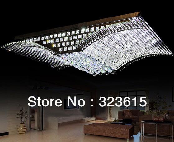 Moderne de mode de luxe k9 led. mirs ailes plafonnier lustre lumières. salon salle à manger
