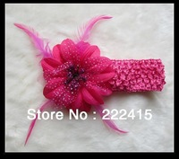 Christmas Headbands Adult & Baby Use,Christmas Flower with Feather, Free Shipping