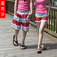 Sand fashion beach pants shorts casual stripe beach pants casual pants