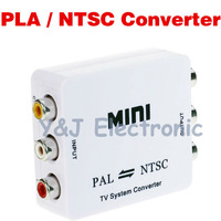 wholesale 15PCS/lot PAL to NTSC / SECAM to PAL NTSC / NTSC to PAL converter MINI Bi-directional TV Format System Converter