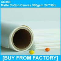 """Matte Cotton Canvas 380gsm 24""""*30M"""
