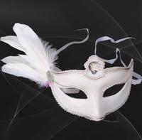 White Prom mask / Princess mask / Halloween Mask / feather lace princess mask gifts