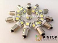 50 x pcs/lot BA9S 5050 5smd Car LED Light Interior Bulbs DC 12V Super Bright car led blub