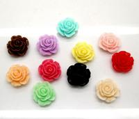 80 Mixed Rose Resin Beads Flatback Cabochon Scrapbook Fit Phone Embellishment