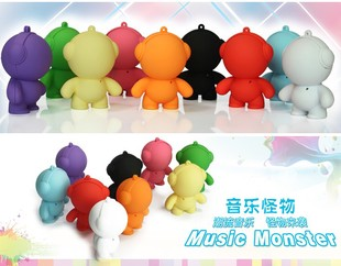 New year gift doll sound cartoon speaker monster mini stereo music monster 100