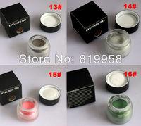 Free Shipping!! 4 colors cosmetic eye liner gel water proof gel 13# 14# 15# 16#