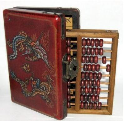 Free shipping antique collectibles abacus leather WOODEN DRAGON PHOENIX JEWEL BOX gifts crafts(China (Mainland))