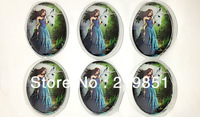 Include canbochon and image 30*40mm oval cabochons already glued on the image transparent glass cabochon blank pendant cover 59