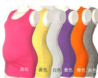 2013 new SUMMER elastic soft adjustable candy maternity  vest full pregancy woman abdominal solid tops