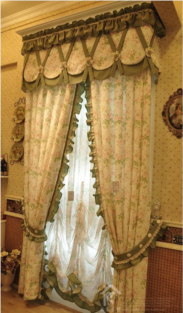 custom made elegant splicing pleated curtains fabric drapery curtains