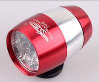 Free Shipping Wholesale 2013 Cheapest Bicycle Bike LED Front  Light  Road Safety Outdoor Mountain Bike Front Light Red Color