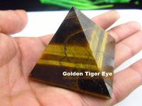 Feng Shui Charging Golden Tiger Eye Pyramid 30mm Crystal Gemstone Healing Orgone Reiki Feng Shui Charging